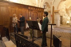avant la lecture musicale, avec monsieur le maire