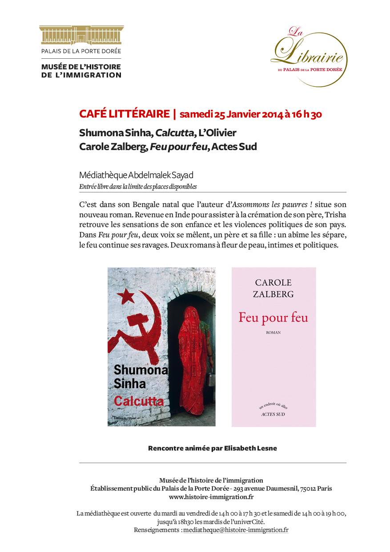 café littéraire du 25 janvier