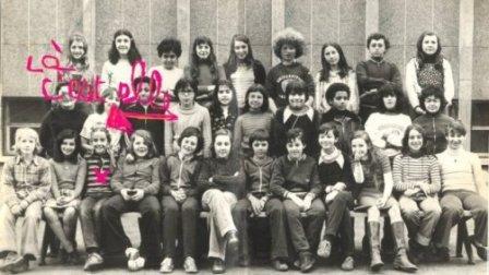 Carole Zalberg en classe de 6e, à l'école Maurice Ravel