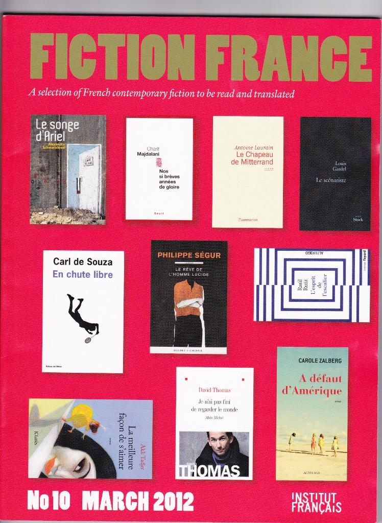 La couverture côté anglais de Fiction France n°10