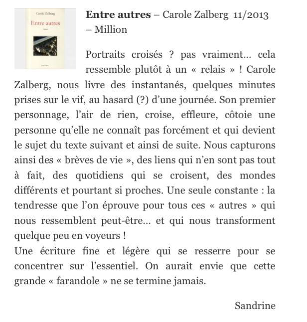 Entre autres sélectionné par Co-Libris