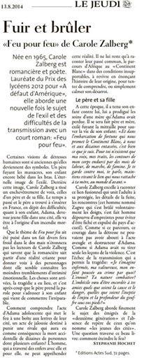 """""""Feu pour feu"""" dans le Jeudi du Luxembourg"""