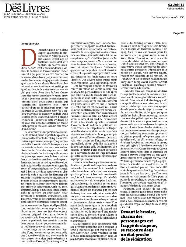 dans Le Monde du 2 janvier 2014