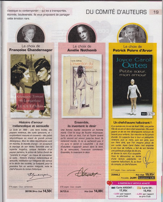 L'invention du désir dans le catalogue France Loisirs
