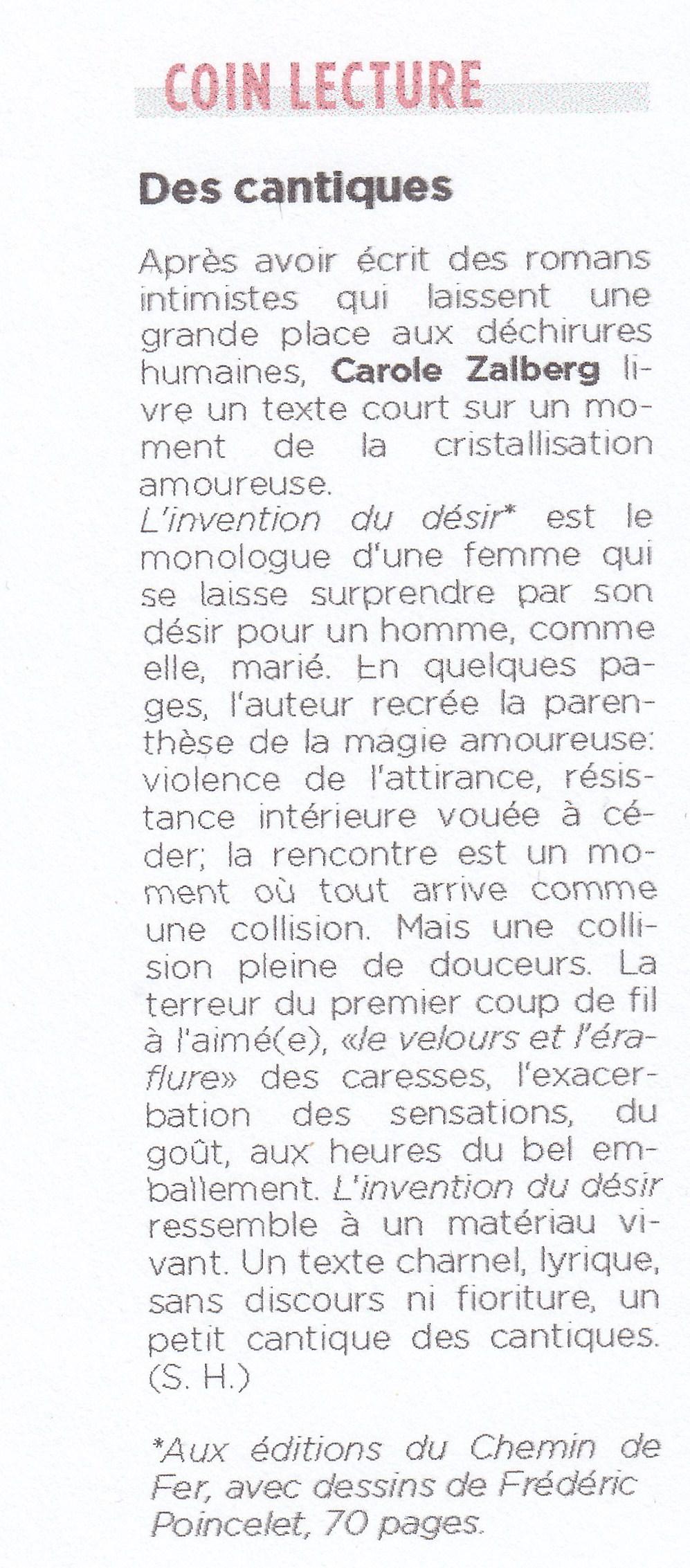 article de Stéphanie Hochet