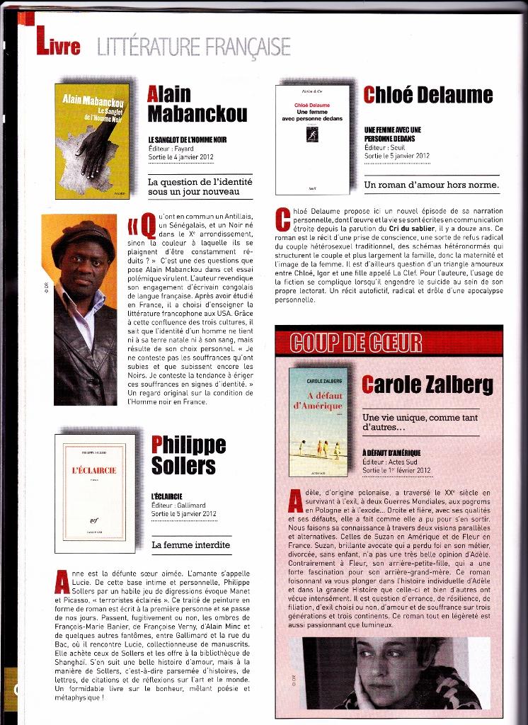 coup de coeur du magazine des espaces culturels Leclerc