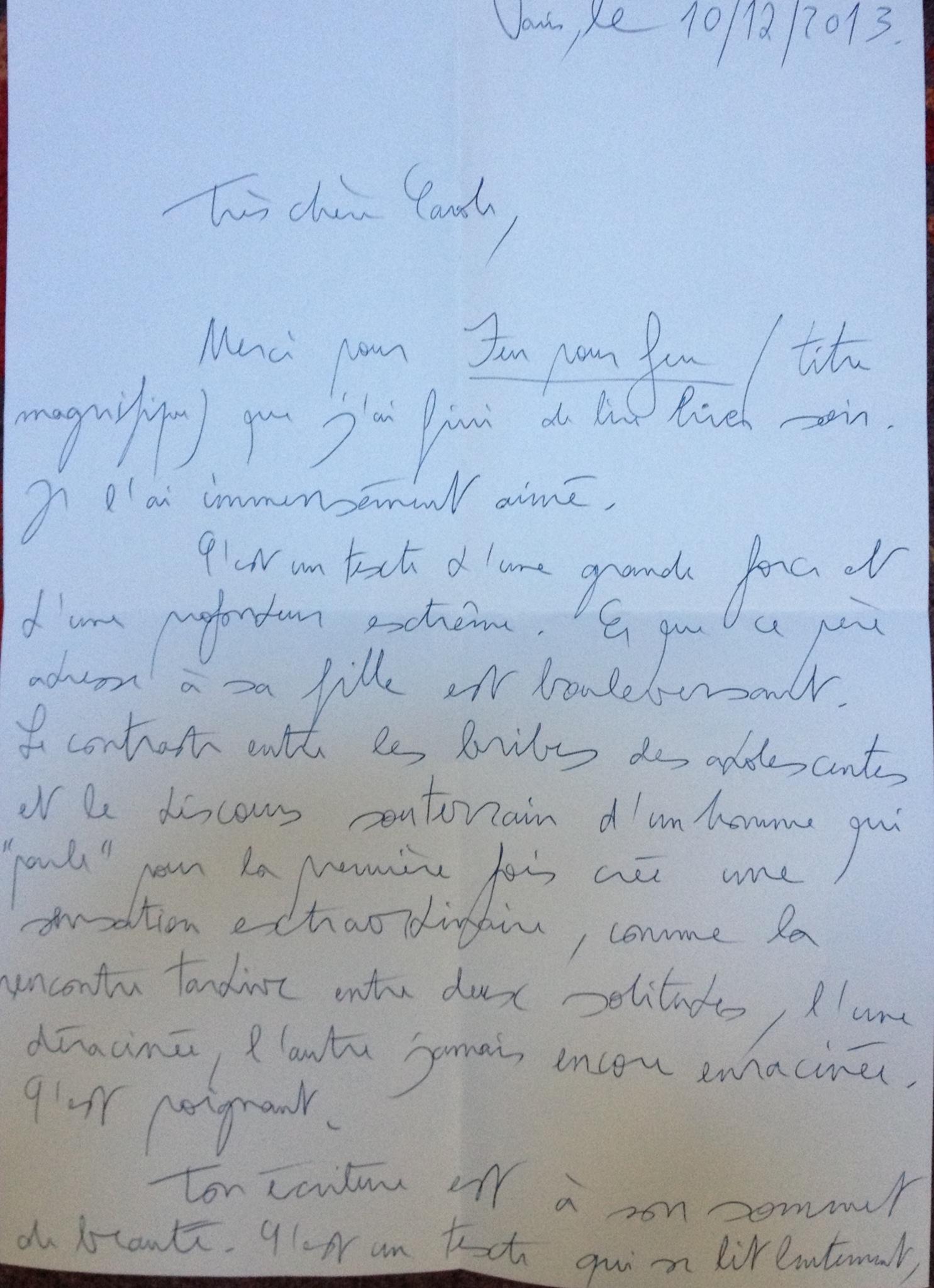 lettre Amélie